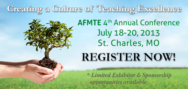 AFMTE 2013 Annual Conference Registration